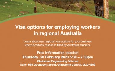 Visa options for employing workers in regional Australia – Gladstone – 20 Feb