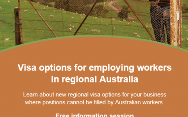 Visa options for employing workers in regional Australia – Rockhampton – 19 Feb